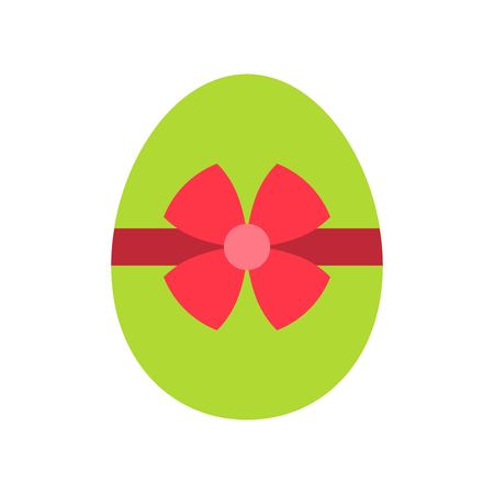 Easter egg vector, Isolated Easter flat design icon
