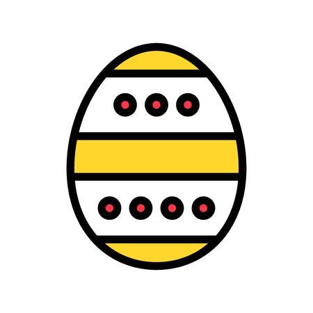 Easter egg vector, Easter filled style icon editable stroke
