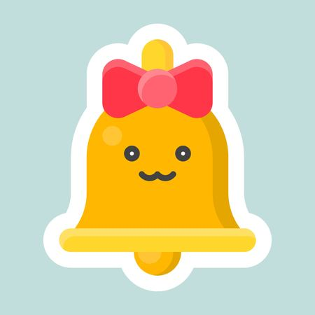 Bell vector, Easter and spring flat sticker icon 矢量图像