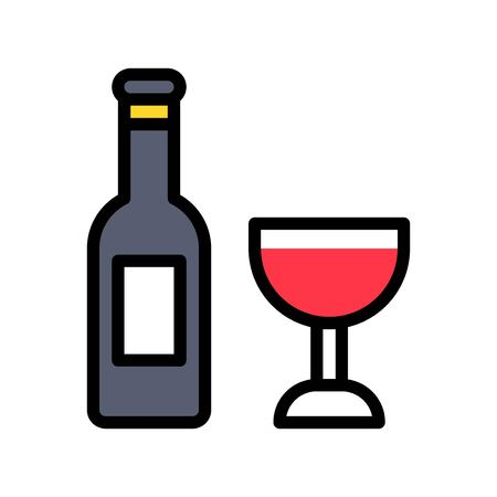 Wine vector, Easter filled style icon editable stroke
