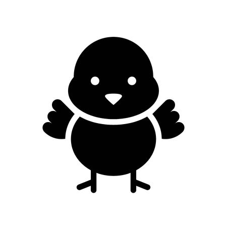 Chick vector, Isolated Easter solid design icon  イラスト・ベクター素材