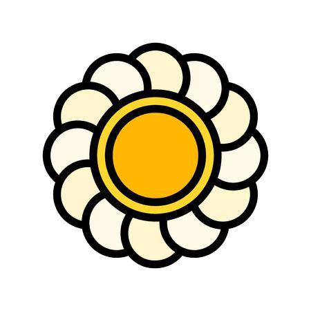 Flower vector, Easter filled style icon editable stroke