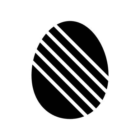 Easter egg vector, Isolated Easter solid design icon