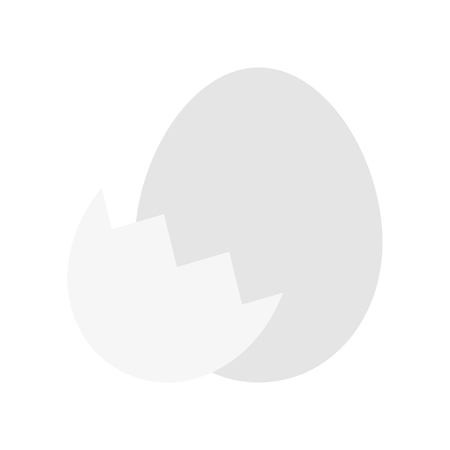Egg with eggshell vector, Isolated Easter flat design icon
