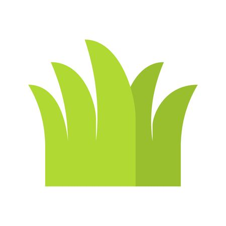 Grass vector, Isolated Easter flat design icon  イラスト・ベクター素材
