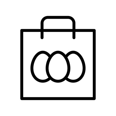 Easter bag vector, Easter line style icon editable stroke