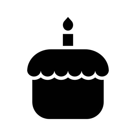 Cake vector, Isolated Easter solid design icon