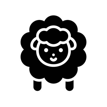 Sheep vector, Isolated Easter solid design icon  イラスト・ベクター素材