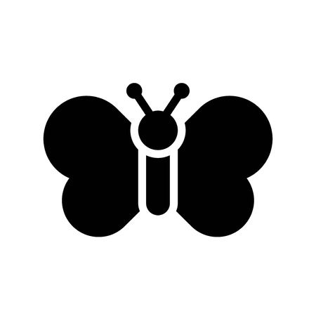Butterfly vector, Isolated Easter solid design icon  イラスト・ベクター素材