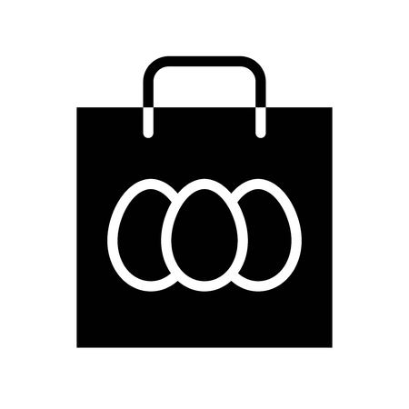 Easter bag vector, Isolated Easter solid design icon
