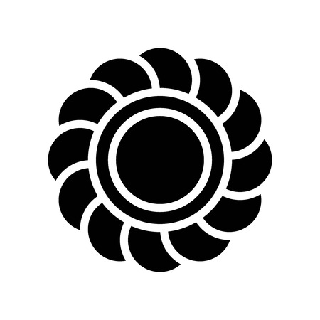 Flower vector, Isolated Easter solid design icon  イラスト・ベクター素材