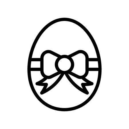 Easter egg vector, Easter line style icon editable stroke