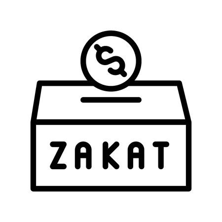 Zakat vector illustration, Ramadan related line style icon