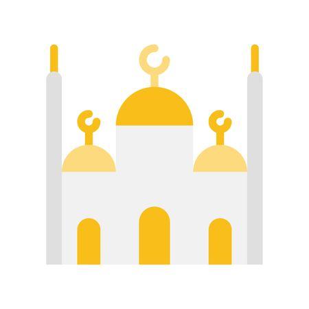 Mosque vector illustration, Ramadan related flat style icon