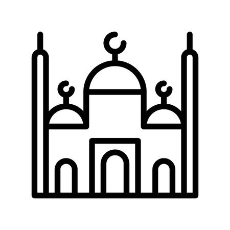 Mosque vector illustration, Ramadan related line style icon