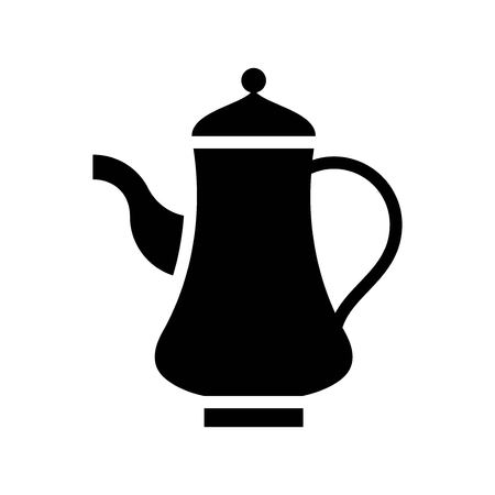 Teapot vector illustration, Ramadan related solid style icon