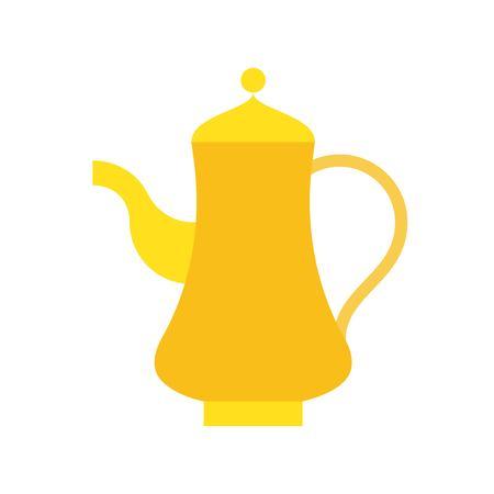 Teapot vector illustration, Ramadan related flat style icon