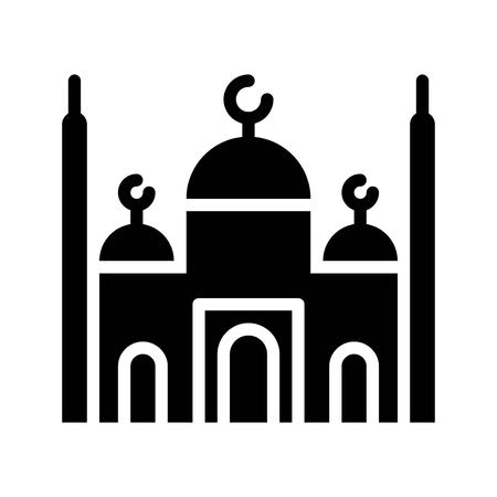 Mosque vector illustration, Ramadan related solid style icon