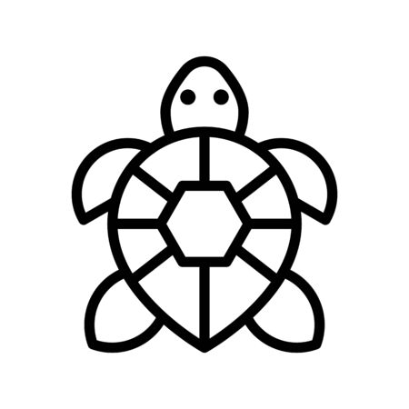 Turtle vector, tropical related line design icon