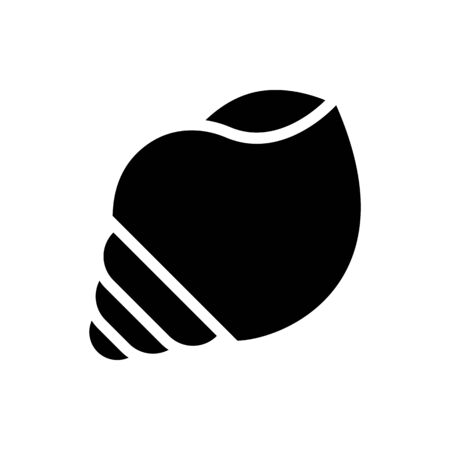 Seashell vector, tropical related solid design icon  イラスト・ベクター素材