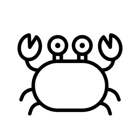 Crab vector, tropical related line design icon  イラスト・ベクター素材