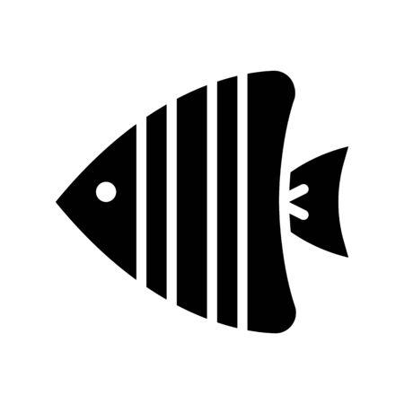 Sea fish vector, tropical related solid design icon