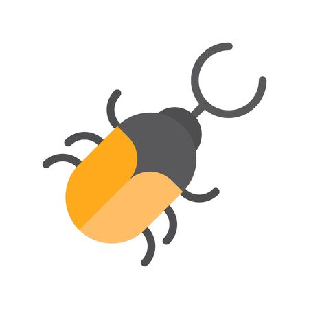 Beetle vector, tropical related flat design icon
