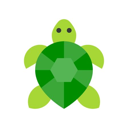 Turtle vector, tropical related flat design icon  イラスト・ベクター素材