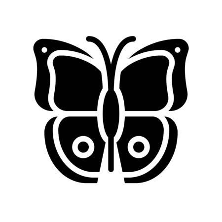 Butterfly vector, tropical related solid design icon