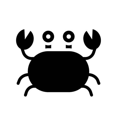 Crab vector, tropical related solid design icon