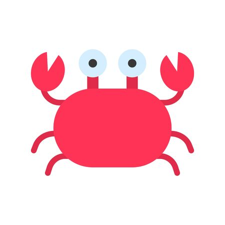 Crab vector, tropical related flat design icon