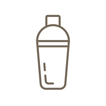 Shaker vector line icon, Device used to mix beverages Illustration