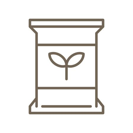 Matcha tea bag vector icon, line design  イラスト・ベクター素材