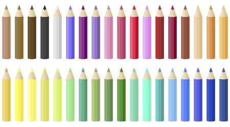 Back to school, Colored Pencil set vector illustration Illustration