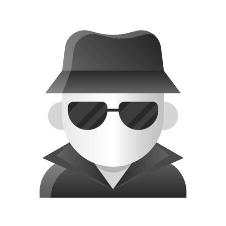 Invisible man vector illustration, Halloween gradient design icon