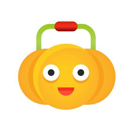 Pumpkin vector illustration, Halloween gradient design icon