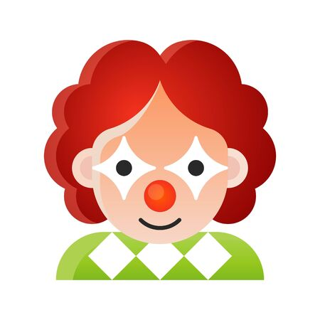 Clown vector illustration, Halloween gradient design icon