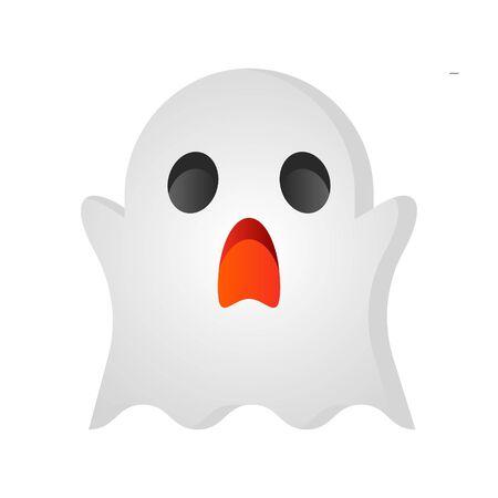 Ghost vector illustration, Halloween gradient design icon Illustration