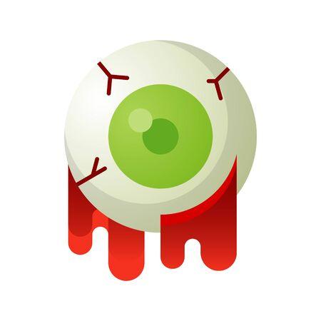 Eyeball vector illustration, Halloween gradient design icon