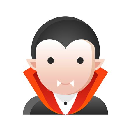 Dracula vector illustration, Halloween gradient design icon