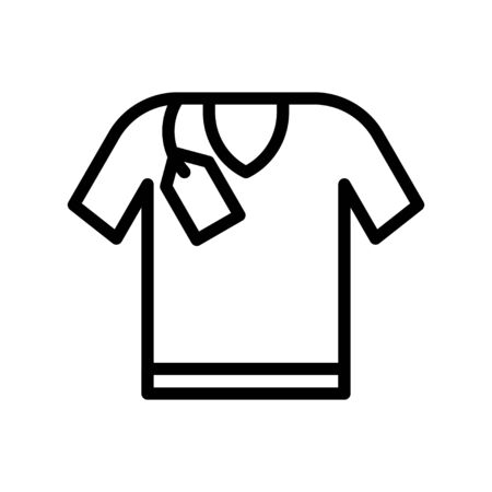 Shirt vector, Black friday related line style icon