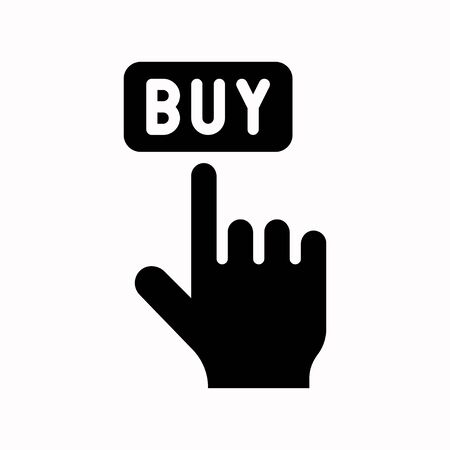 Buy vector, Black friday related solid design icon