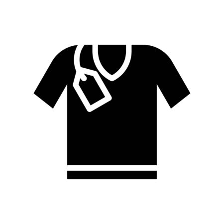 Shirt vector, Black friday related solid style icon Ilustracja