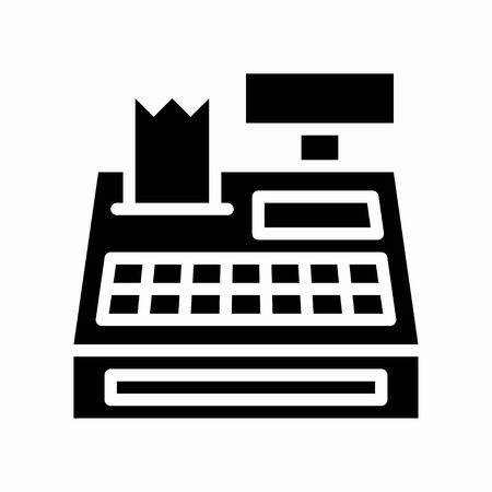Cash register vector, Black friday related solid design icon Ilustracja