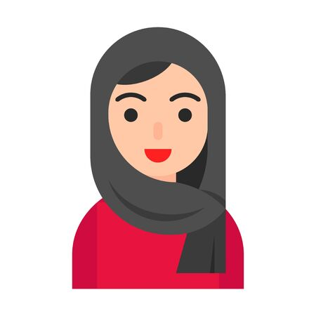 Muslim avatar vector illustration, Muslim people flat icon