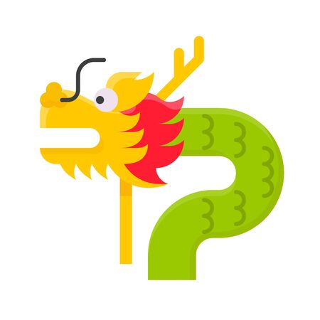 Dragon vector illustration, Chinese New year flat icon