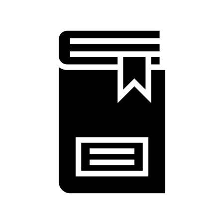 Closed book vector illustration, solid design icon