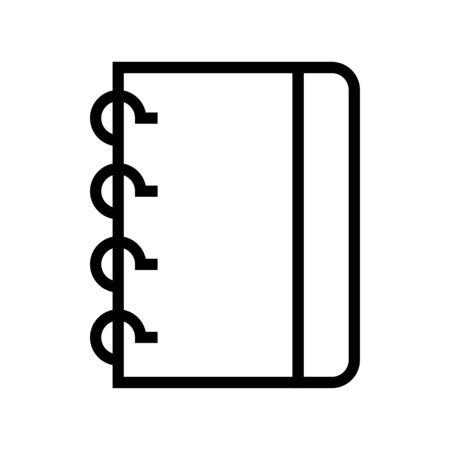 Notebook vector illustration, line design icon