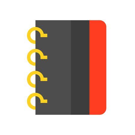Notebook vector illustration, flat design icon