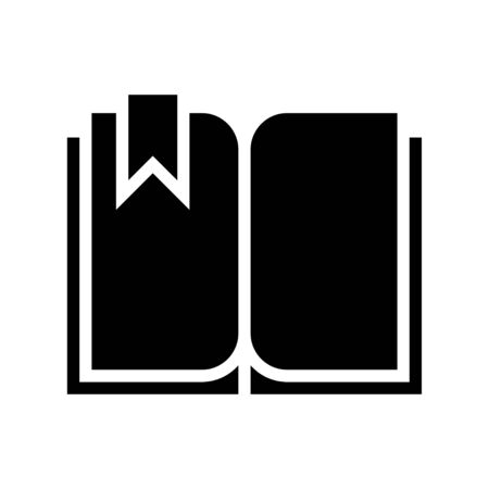 Open book with bookmark vector, solid design icon  イラスト・ベクター素材